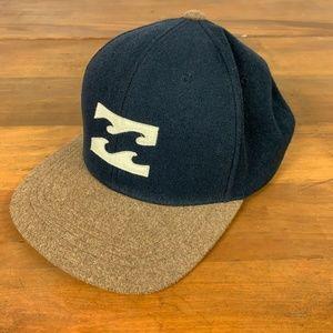 Billabong Wool Snapback Surfing Baseball Hat Cap